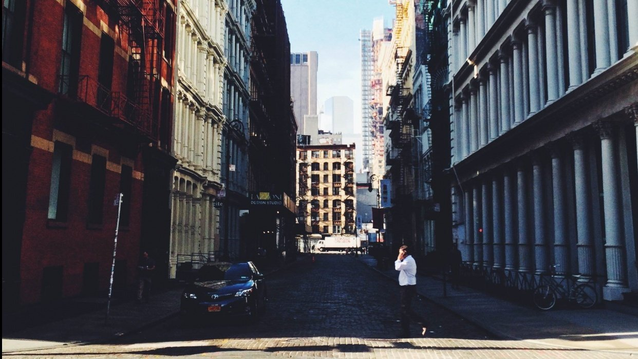 SoHo, New York in September - student project