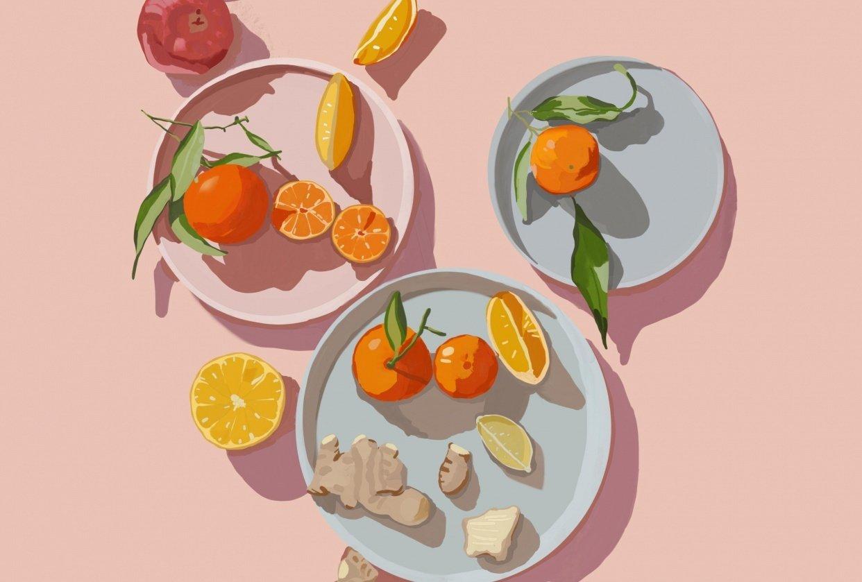 Gouache Citrus Ginger - student project
