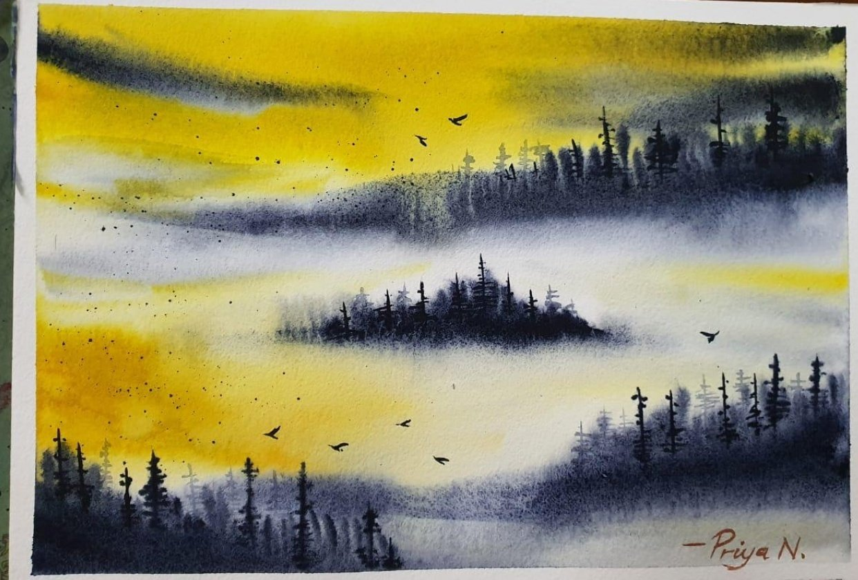 7 days of Misty Mountains - student project