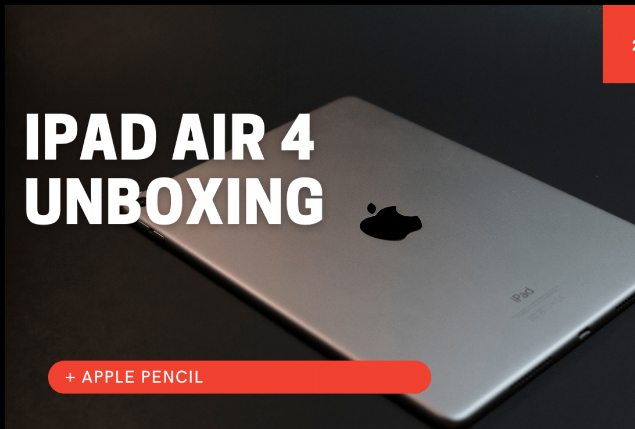 iPad Air 4 (2020) Unboxing - student project