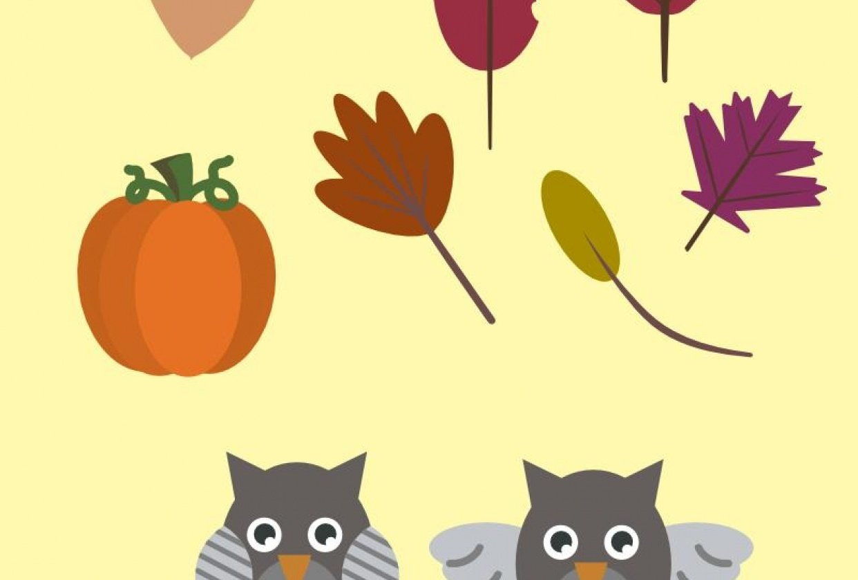 Fall clipart - student project