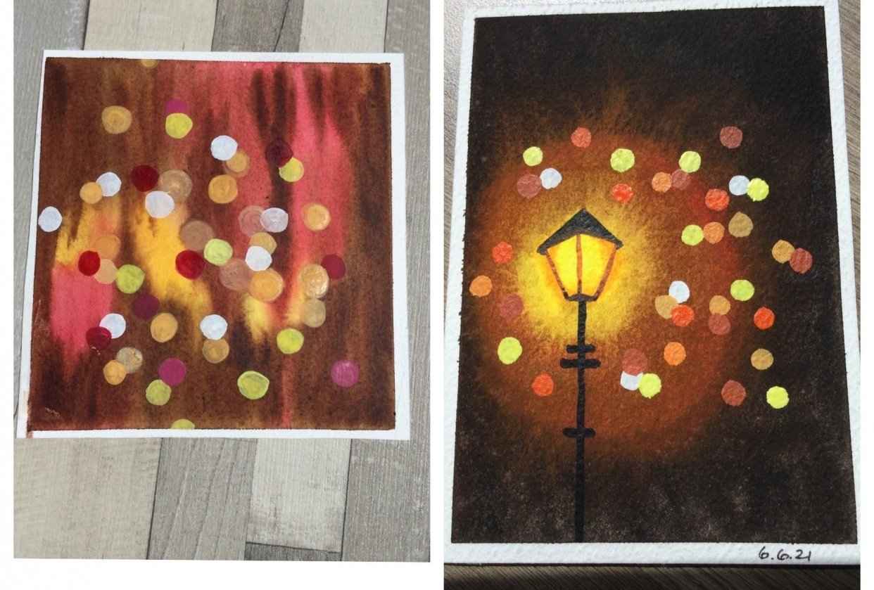 Light dots - student project