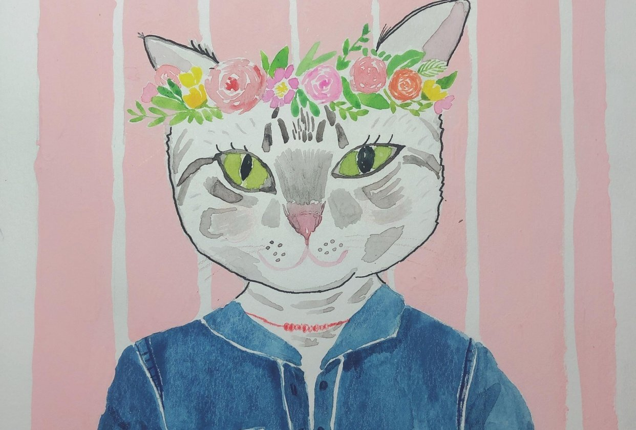 Cat portrait - student project