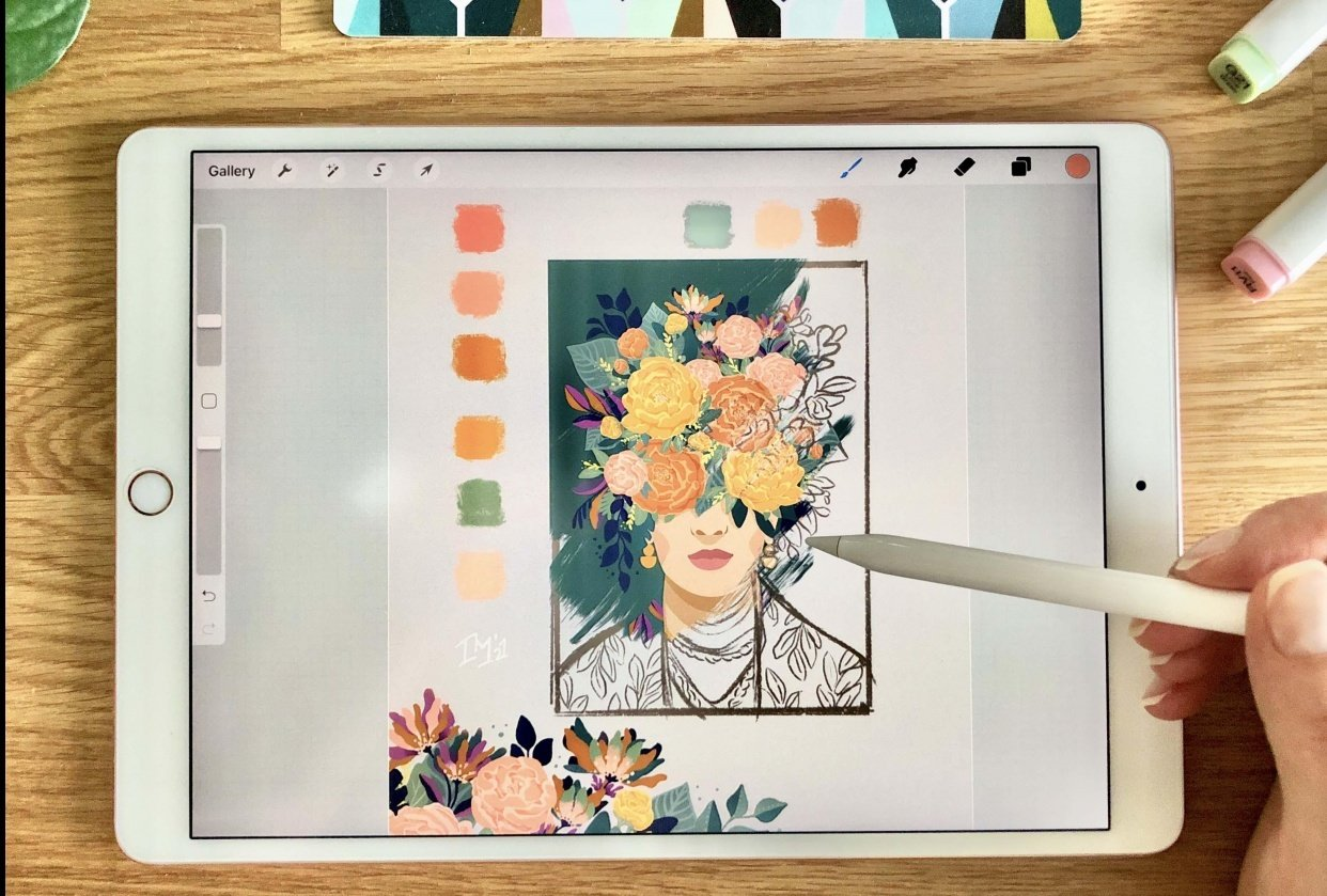Floral Frida Art Reveal - student project