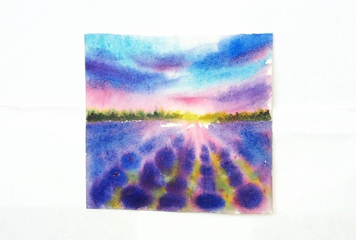 Watercolor lavender dreams - student project