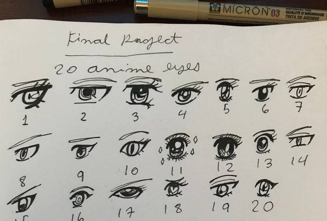 Anime Eyes - student project