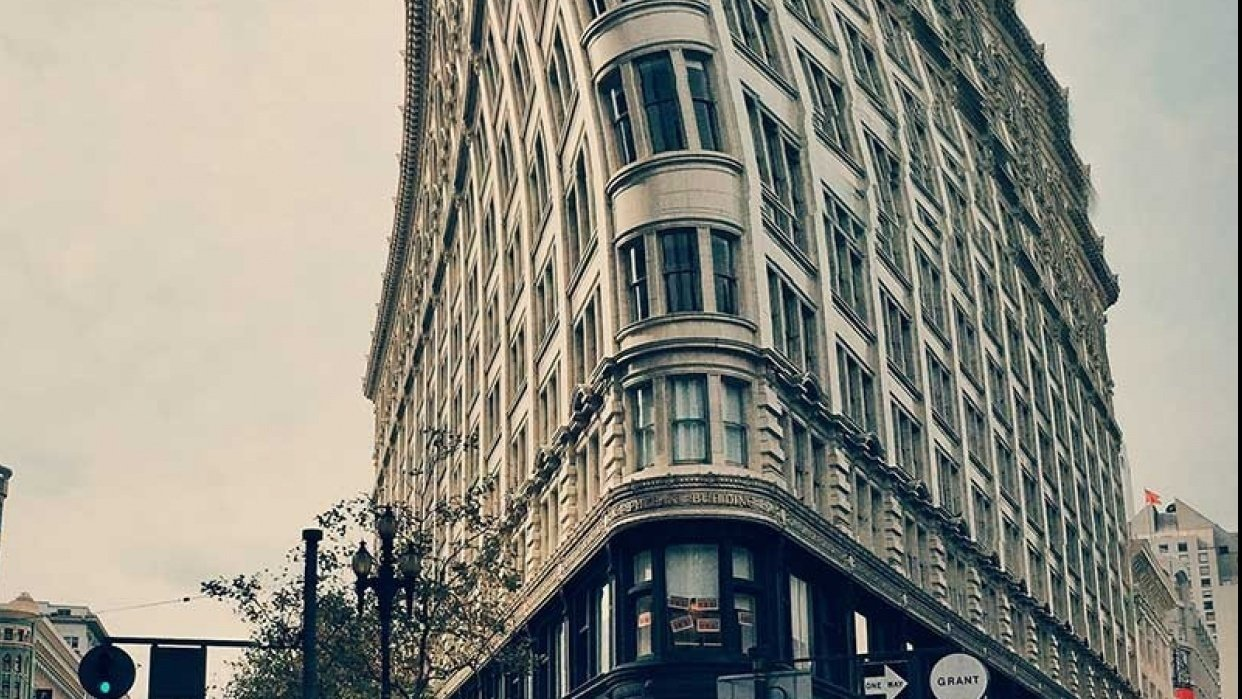 San Francisco's Flat Iron Building - student project
