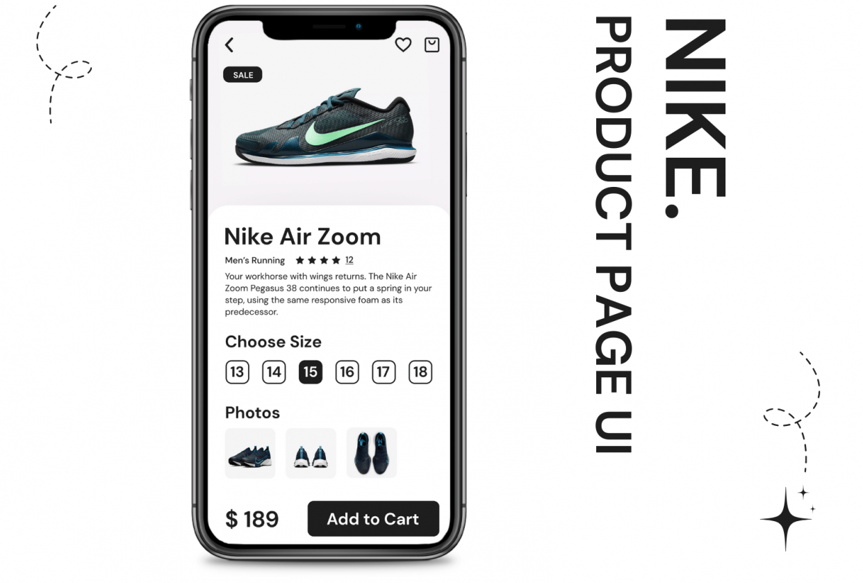 Nike - Product Page UI Design - student project