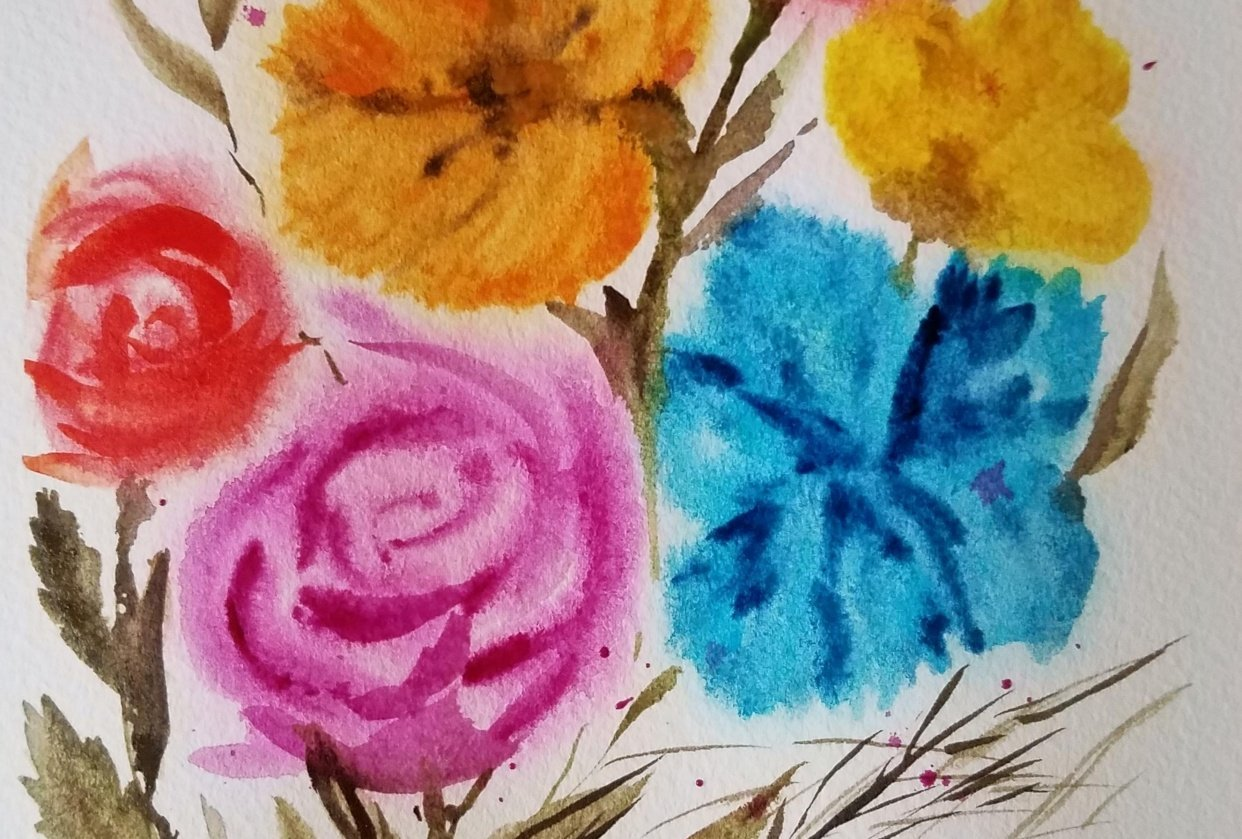 Blurry flowers - student project