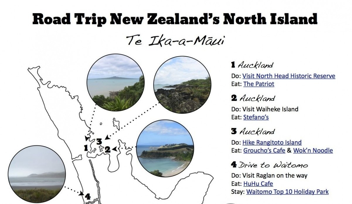 Road Trip Guide to New Zealand - student project