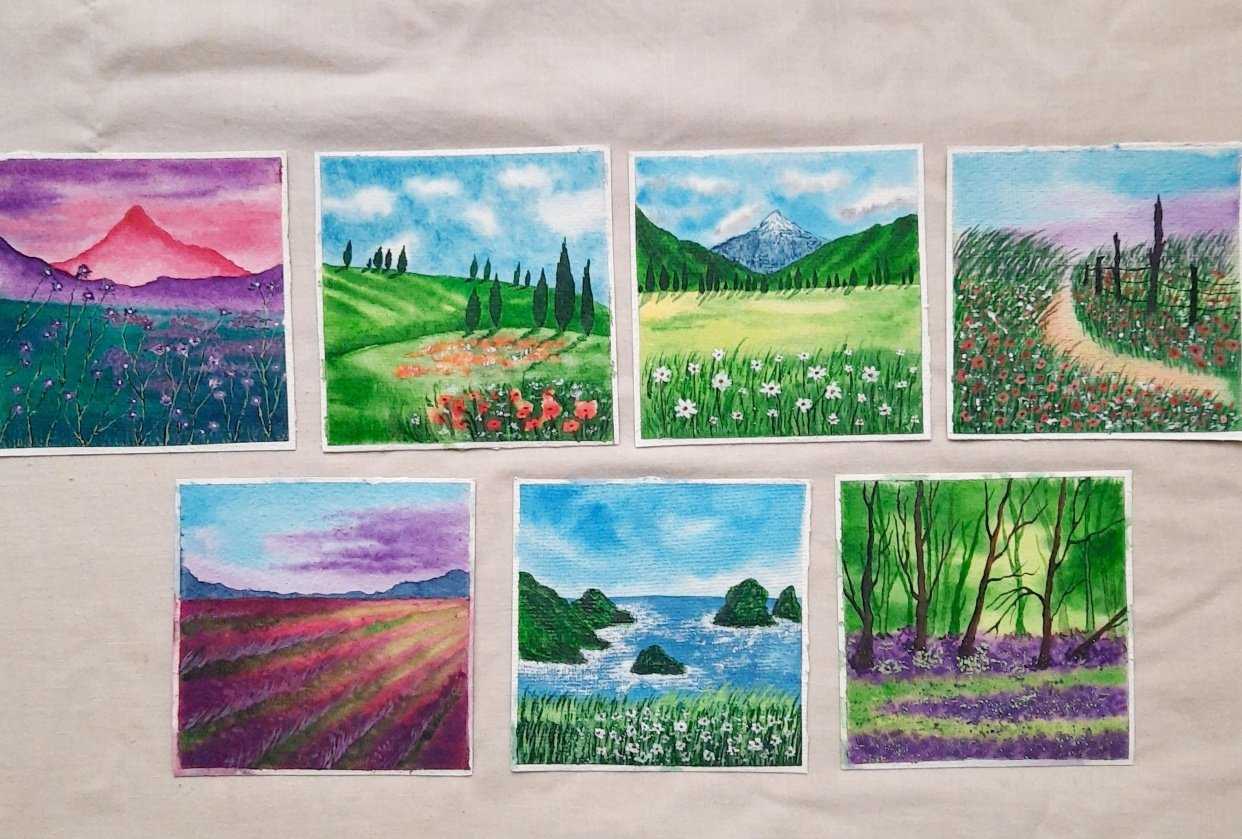 30 Day Watercolor Challenge : Let's Celebrate World Watercolor Month - student project
