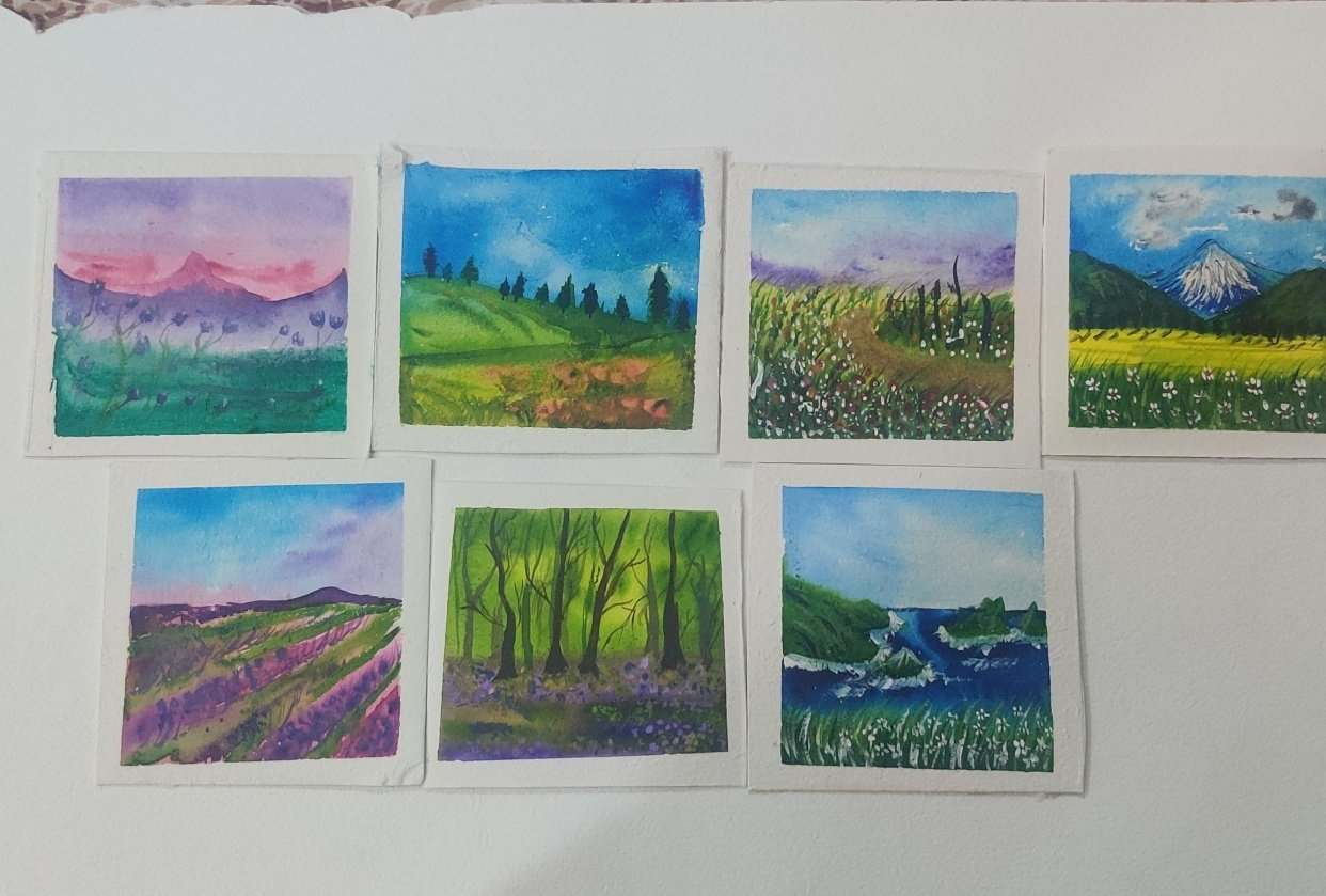 30day watercolor challenge: Let's Celebrate world watercolor Month - student project