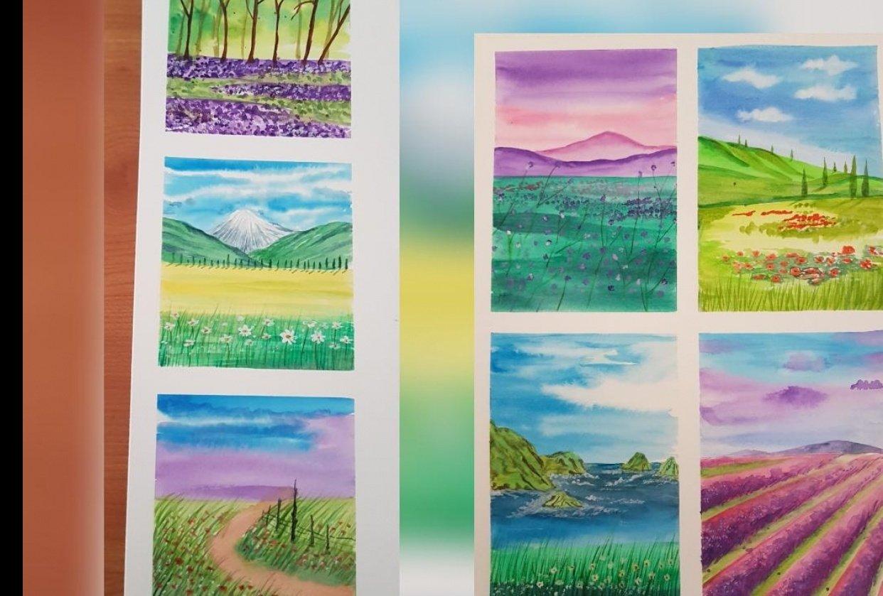 Spring landscapes - student project