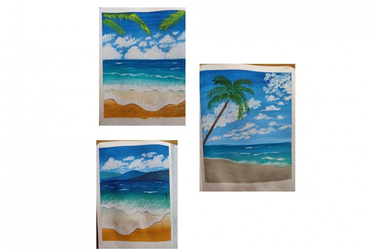 Beach landscape - student project