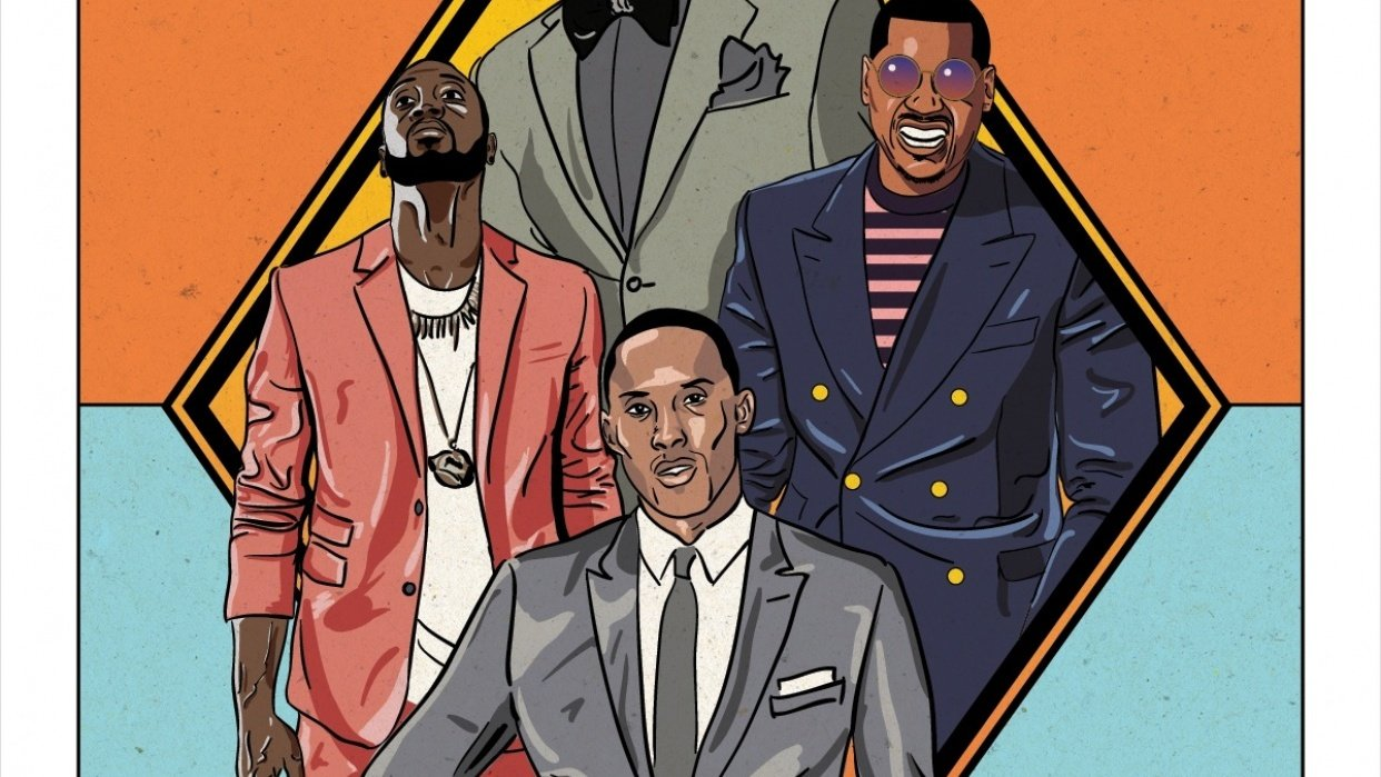 NBA All-Stars Fashion Poster - student project