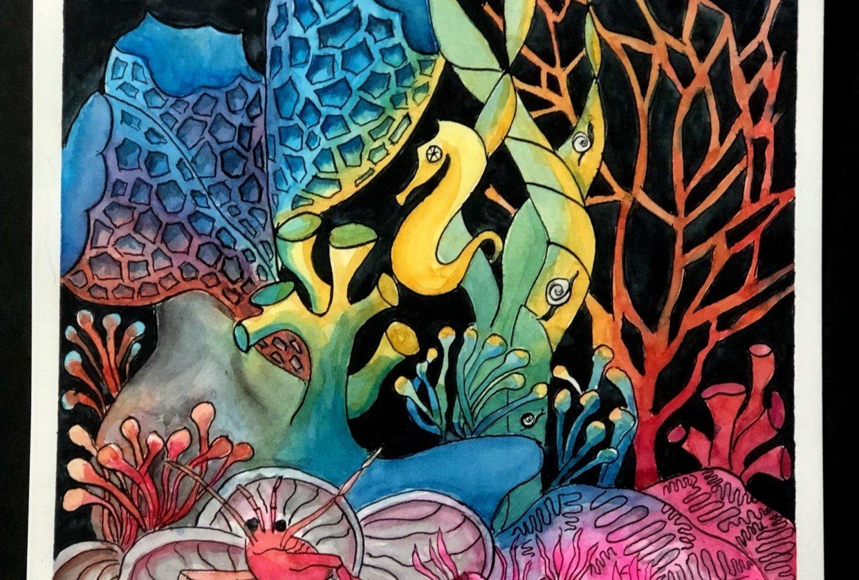 Undersea Rainbow - student project