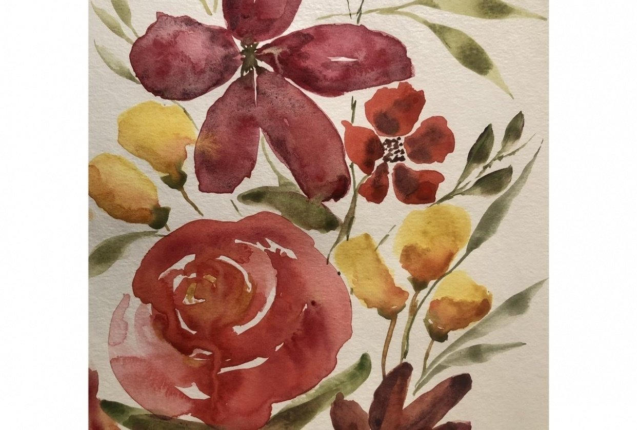 Learning loose florals - student project