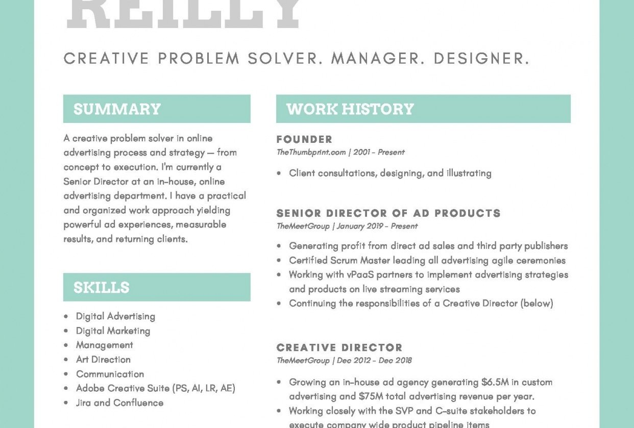 TheThumbprint: Resume Update - student project