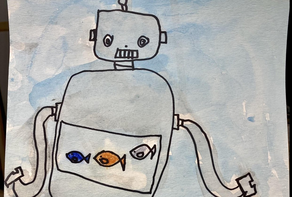 Robot with a fish tank by Lenny - student project