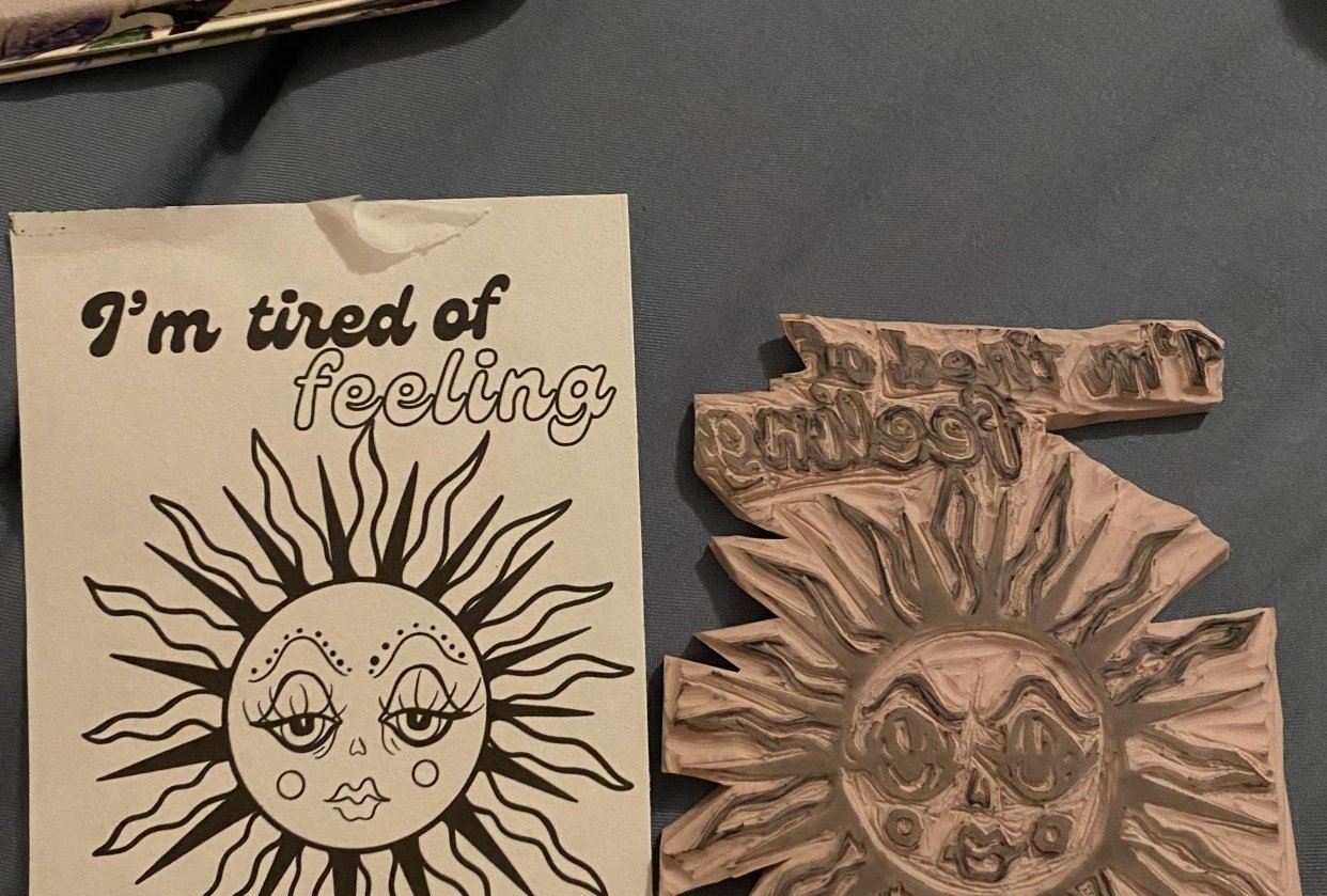 Design and Stamp Carving - student project