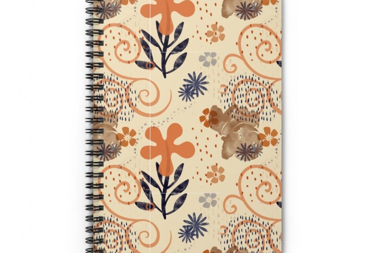 Fall Floral Pattern on Journal - student project