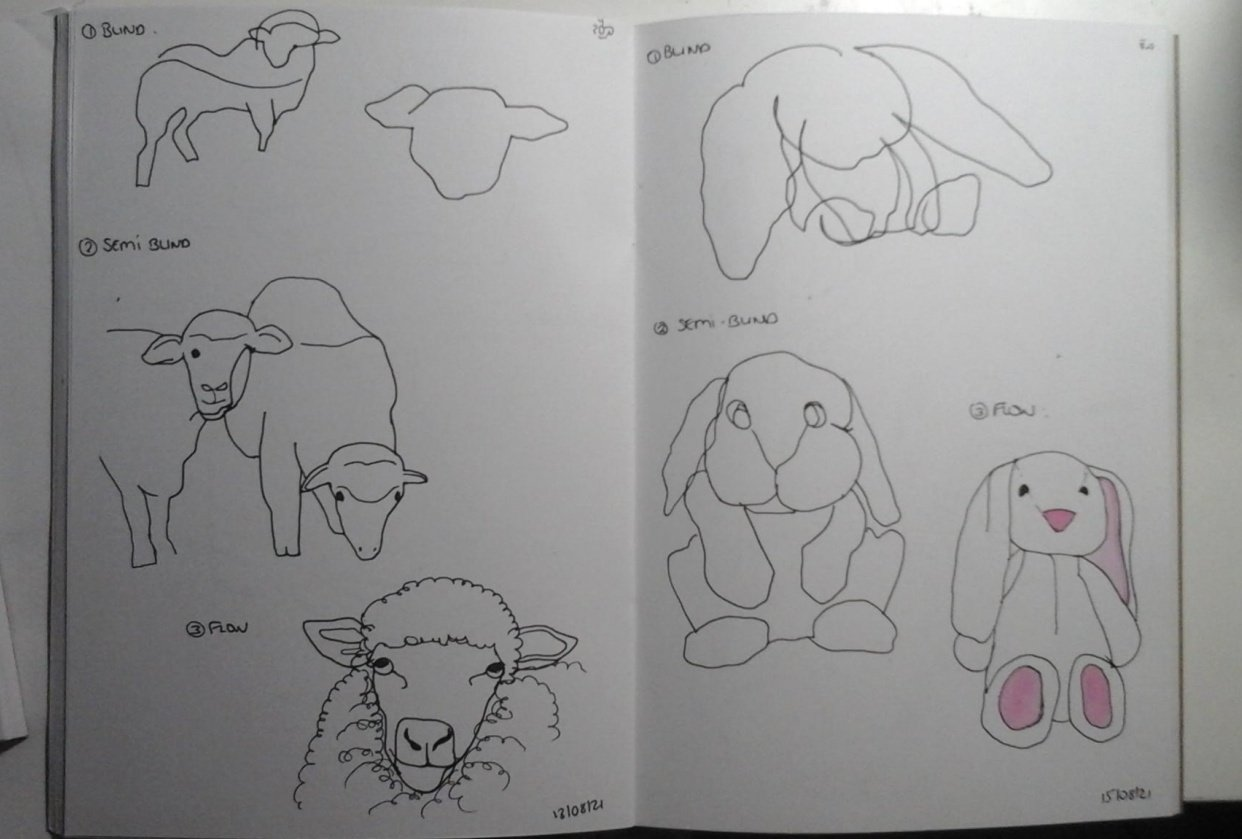 Blind contour drawing - student project