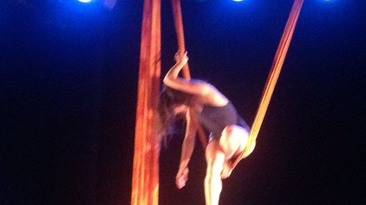 Climbing the tightrope. - all of life is a stage - student project