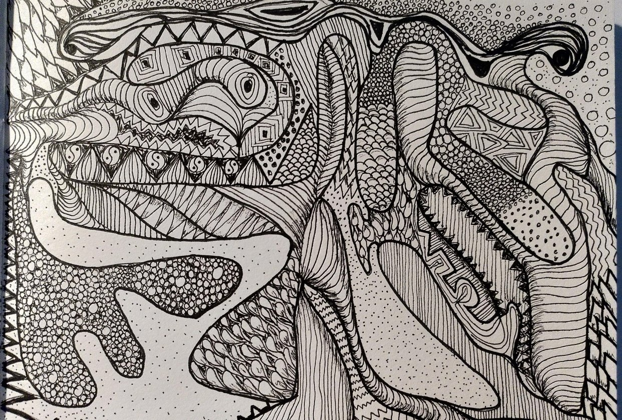 Abstract drawing adventure - student project