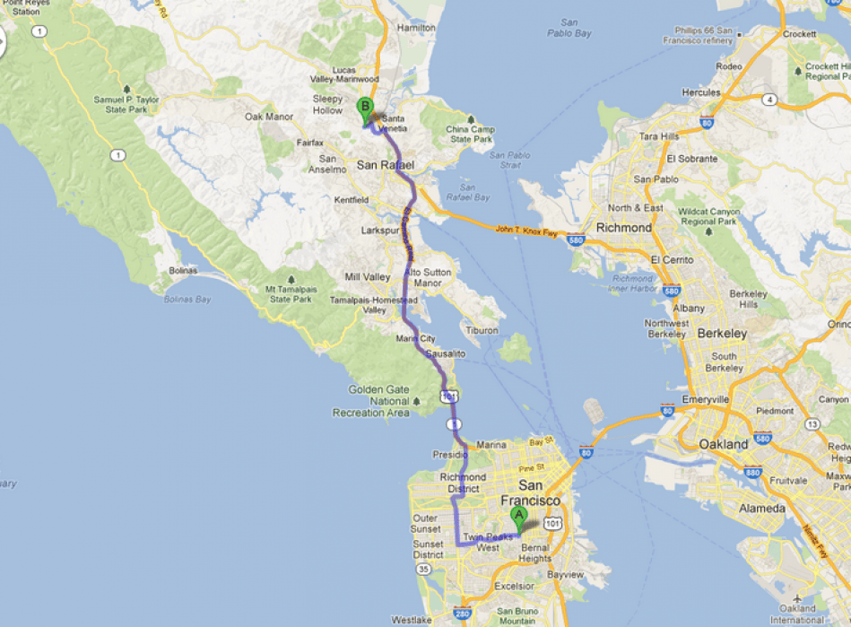 Mapping Terra Linda.  OR, why we left San Francisco. - student project