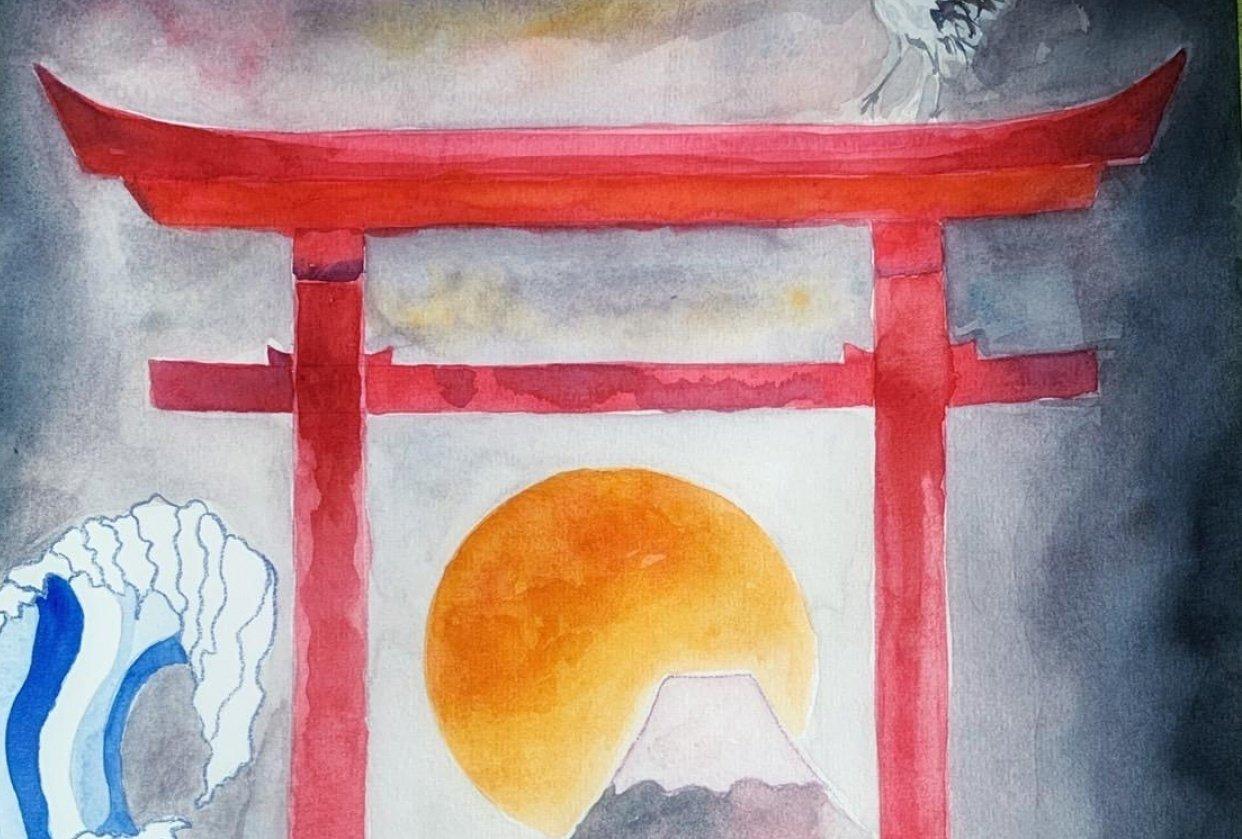 mystical japan landscape - student project