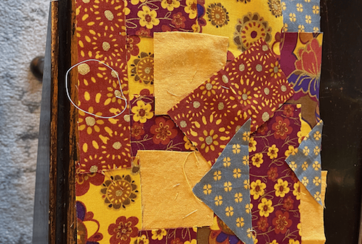 piecing my bag! - student project