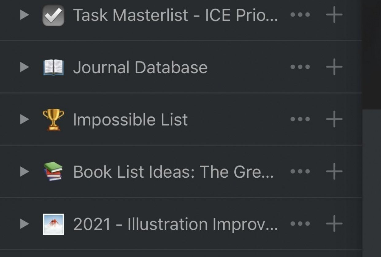 Master lists - student project