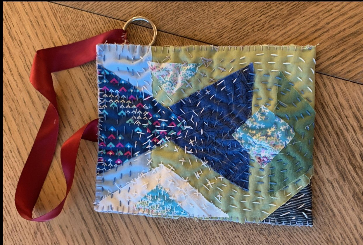 boro style pouch - student project