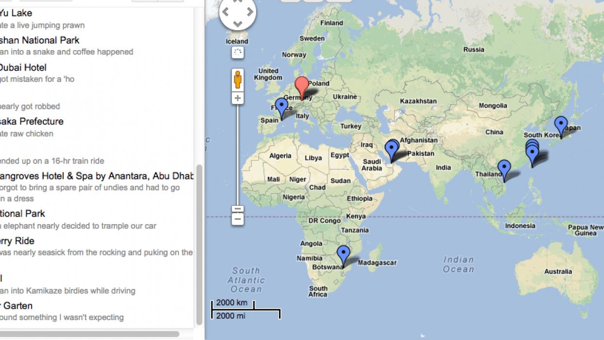 Jac's Mishap Map - student project