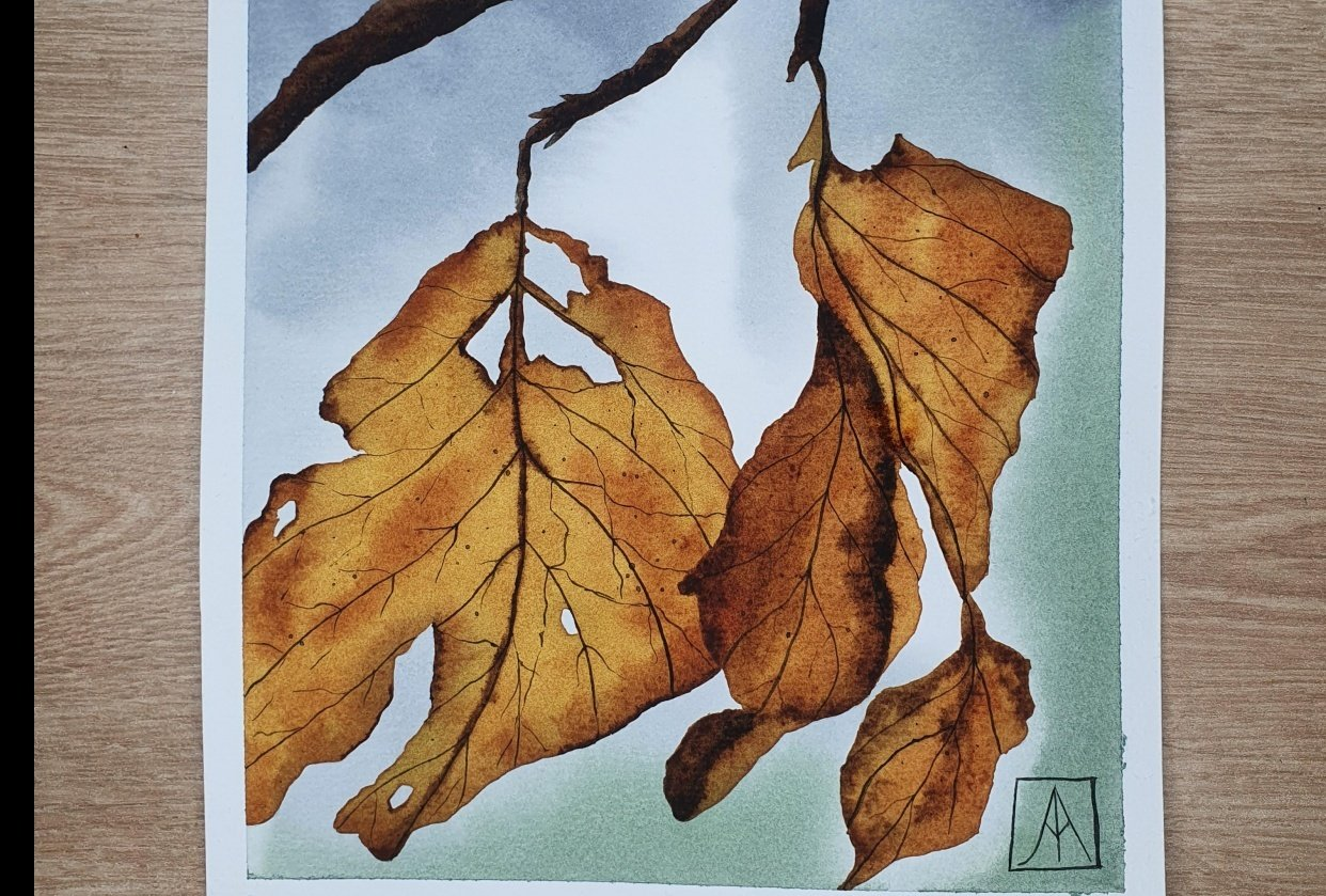 31 Days of Autumn Landscapes with Watercolours - student project