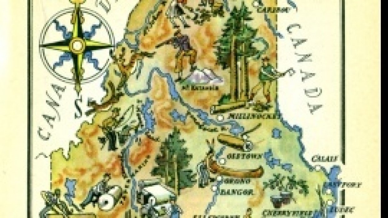 Maine, Maps & Typography: A design meld - student project