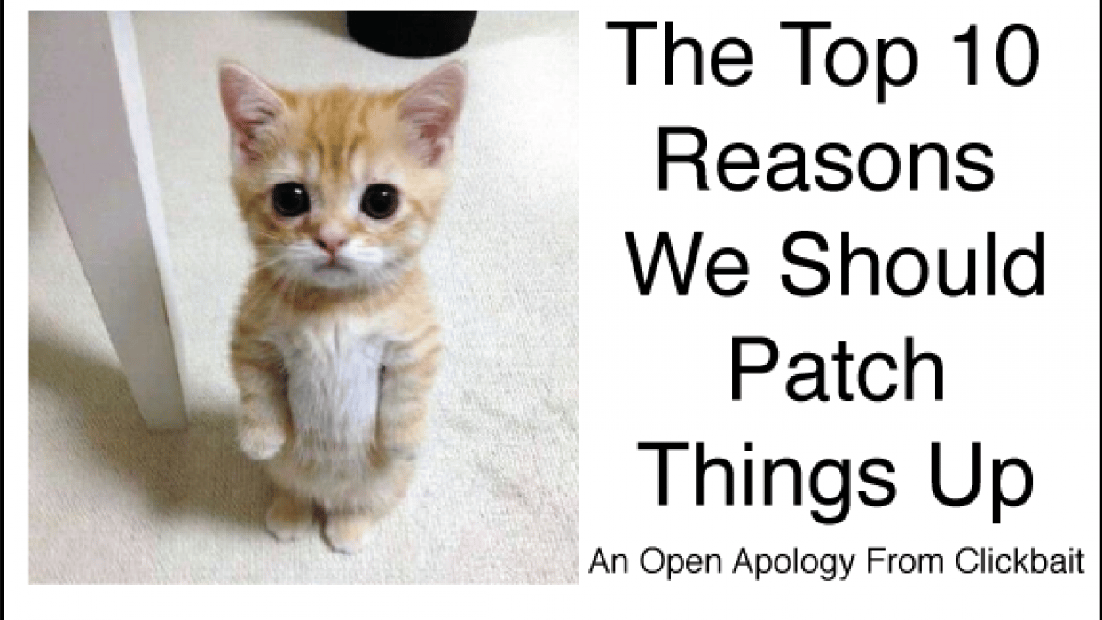 An Open Apology From Clickbait - student project