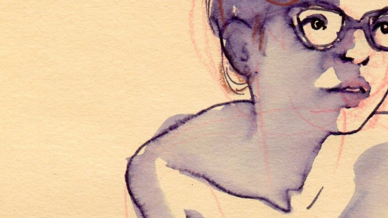 Life Drawing: Giulia and Water(color) - student project