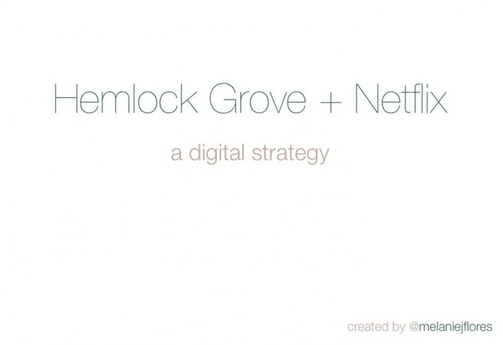 Hemlock Grove + Netflix - student project