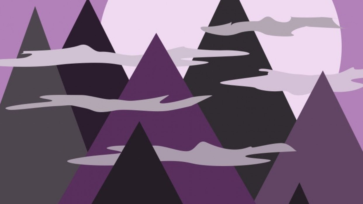 Mystical Mountains - student project