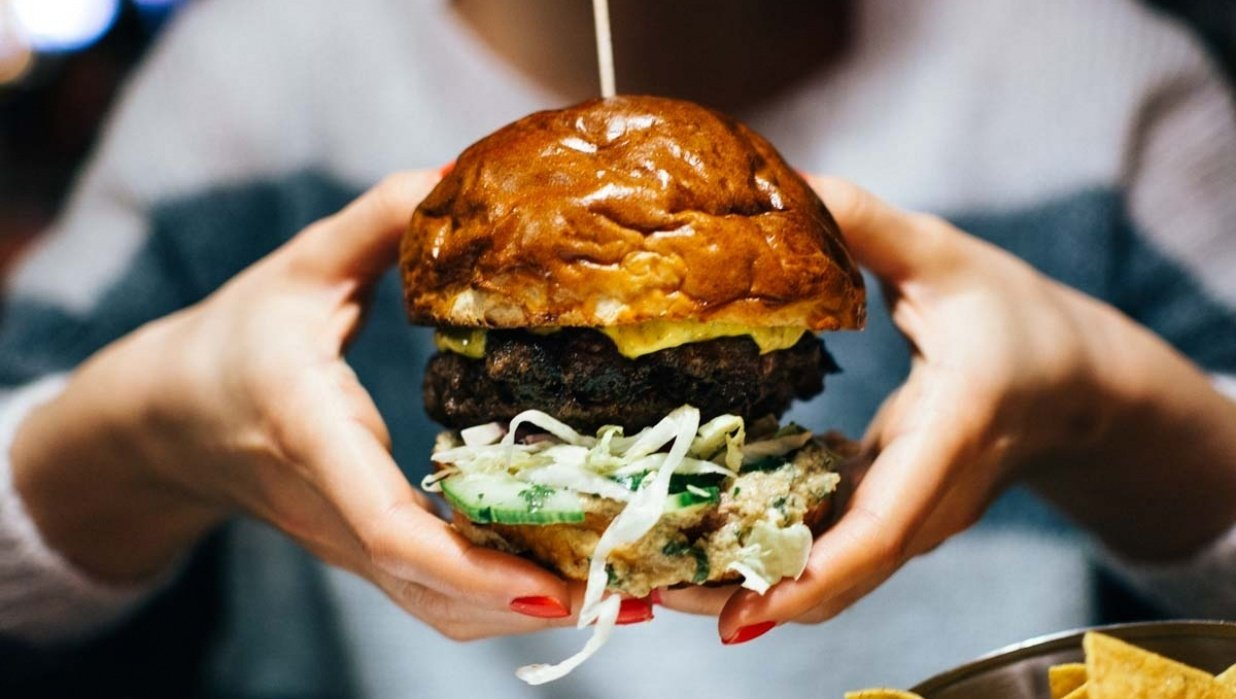 Burger at Black Dog Cantine, Czech Republic - student project