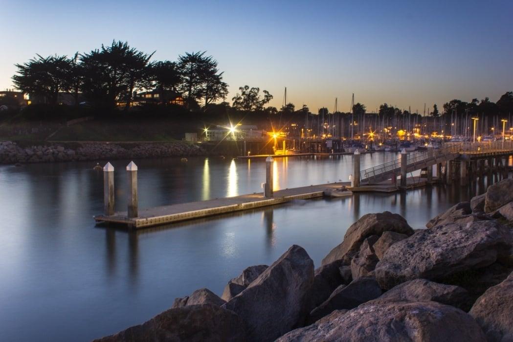 Natural Bridges, Santa Cruz, California. - student project