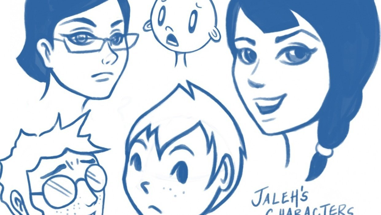 Jaleh's Characters - student project