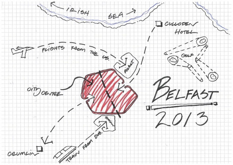My Wedding Map of Belfast - student project