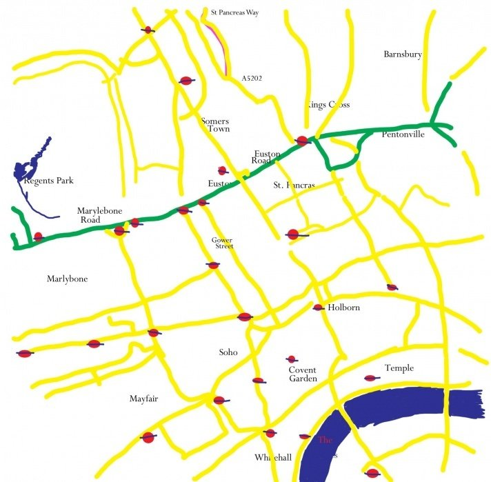 Map Projects 1 & 2: London Tracing and the time I walked across the Danube from Hungary to Slovakia for a beer!!  - student project