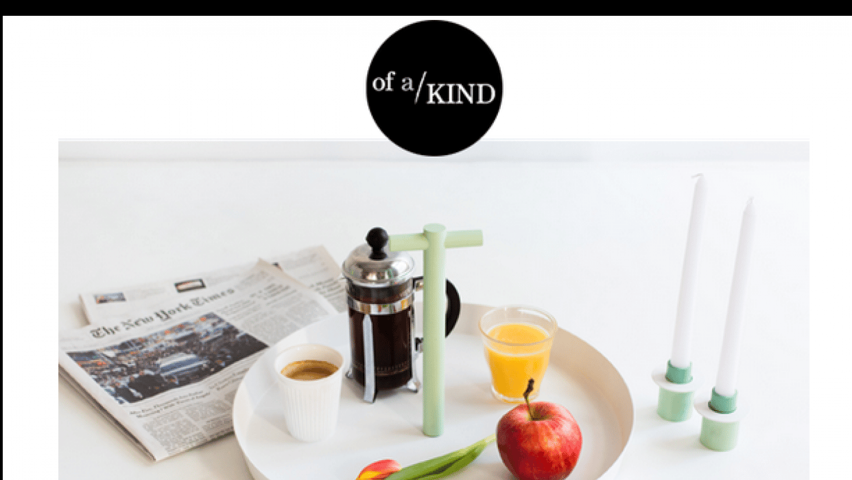 Great Editorial Content - Of a Kind - student project