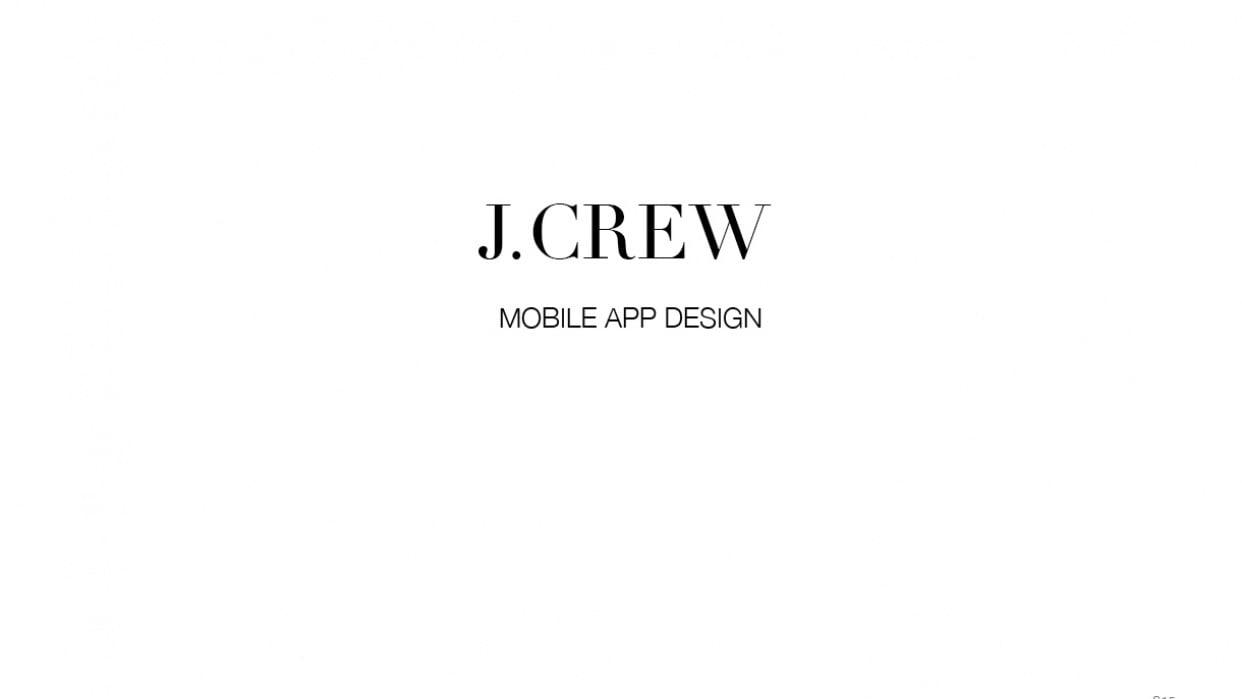 J.Crew Mobile App Design - student project