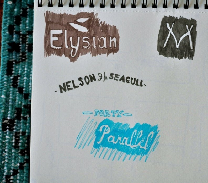 Hand lettering for map projects - student project
