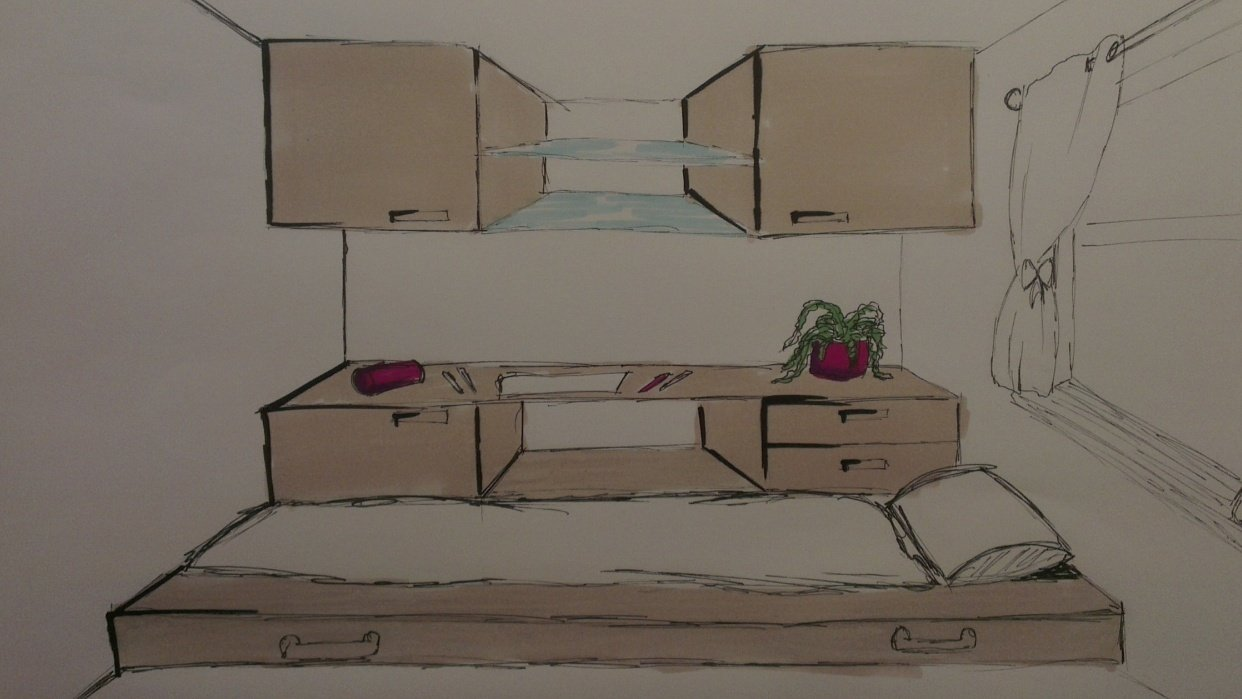 Bedroom design / industrial design - student project