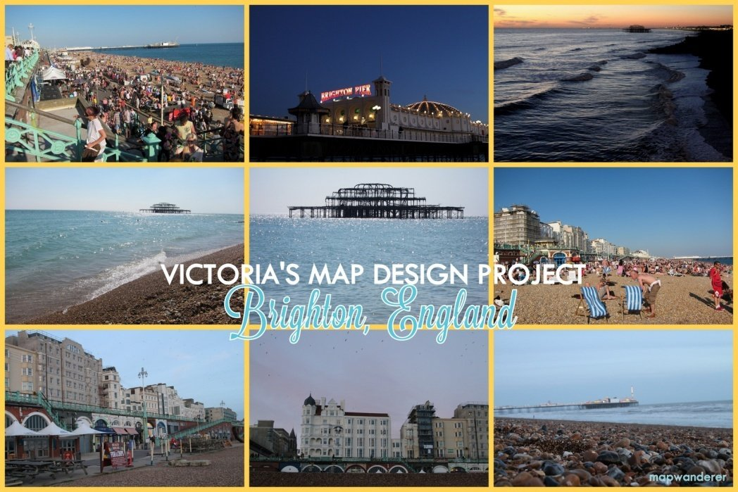 Walks through the seaside town of Brighton, England! - student project